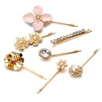 Fashion Headwear Pearl Diamond Metal Hair Clip Female Accessories J1X3