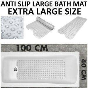 EXTRA LARGE ANTI NON SLIP BATH SHOWER MAT PVC BATHROOM MAT RUBBER STRONG SUCTION