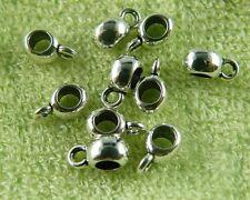400pcs Tibetan Silver Beautiful Oval Bails Craft DIY 9x4x5mm U118