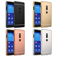 For OnePlus 2/OnePlus 3 Aluminum Metal Bumper w/ Mirror PC Back Skin Case Cover