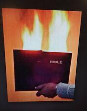 Flaming Book Hot Book Magic Trick The Holy Bible