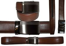 """Men's belt: Genuine Leather Dress & casual Belt. Auto lock New Buckle UP to 50"""""""