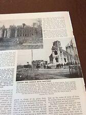 m8-2 ephemera 1938 ww1 picture bourlon village chateau bombed