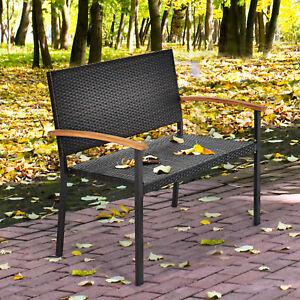 Polyrattan Gartenbank Rattanbank Sitzbank Parkbank Gartenmöbel Outdoor bis 360kg