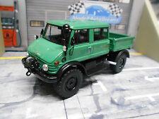 MERCEDES BENZ Unimog U416 U 416 DoKa Doppelkabine grün green 1977 NEO Resin 1:43