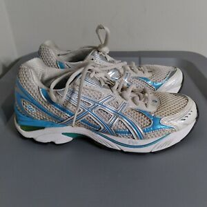 Asics GT 2150 Women's Size 7.5 Running Shoes White/Blue Low Top Athletic Sneaker