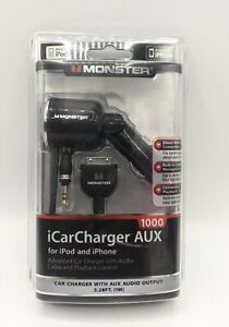 Monster iCarCharger 1000 AUX Car Charger with Audio Output for iPod iPhone