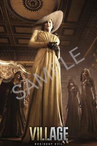 Resident Evil Village Lady Dimitrescu A4 Poster Laminated Resident Evil Poster
