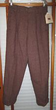 NEW Woolrich Plaid Wool Pants Women's 12 Lined Cuffed 1694
