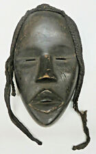 African Face Mask Ethnographic Handcarved Ceremonial Wood Female Dan Liberia
