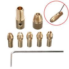 8Pcs/Set 0.5-3mm Gold Electric Drill Bit Collet Mini Twist Drill Tools Chuck ☃