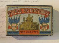 Boite de plumes Patriotiques Cie Française Antique Pen Nibs Sealed Box 1900s