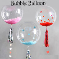 """Set of 10 balloons - 36"""" 18"""" and 26"""" clear - bubble - bobo - transparent - balon"""