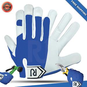 Ladies/Mens Leather Gardening Gloves│Thorn Proof Garden Glove│Goat Skin Glove│RU