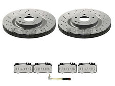 MERCEDES C-CLASS W203 CL203 FRONT BRAKE DISCS AND PADS DRILLED WEAR LEAD (330MM)