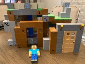 Minecraft Survival Mode Playset Toy House Building Structure Not Complete