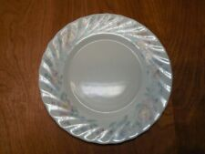 """Arcopal France CHAMPETRE Set of 8 Salad Plates 7 5/8"""" Ivory Scallopped Floral"""