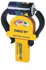 Eagle Compact Battery Tester tests AAA, AA, C, D, 9V PP3, N and most button cell