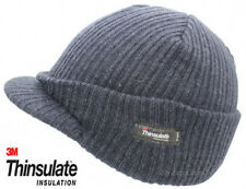Mens Woolly Army Beanie Hat Cap Jeep Warm Peaked Fishing Navy Blue Thinsulate