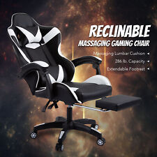 Ergonomic Computer Gaming Chair Massage Amp Extendable Footrest For Adults Office