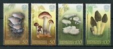 Kyrgyzstan KEP 2017 MNH Edible Mushrooms 4v Set Fungi Nature Stamps
