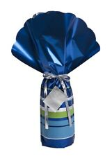 Lux Wrap Blue Luxury Bottle Gift Wrapping Includes Ribbon & Gift Tag