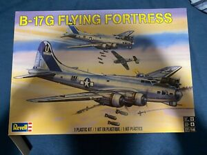 Revell B-17G Flying Fortress Partially Built
