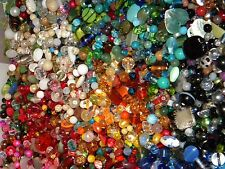 NEW 8/oz Multi-colored MIXED LOOSE BEADS LOT Gem, Stone, Glass NO JUNK (mx8)