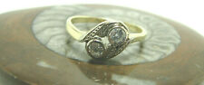 Damen Vintage Diamant Ring 585 Gold 14 Karat Bicolor Goldring Größe 50