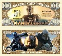 Pack of 25 - The Mandalorian Disney + Plus Star Wars Novelty Dollar Bills