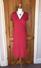 Boden - Coral Red Wrap Dress - Size 12