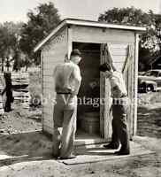 Outhouse One Holer, Vintage 1930s Rural Americana Bathroom photo