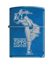 Zippo Cerulean Blue Windy Girl Windproof Lighter NEW RARE