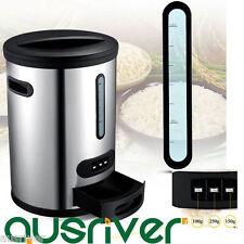 Stainless Steel 430 Auto Optional Rice Grain Food Storage Bin Box Dispenser 10kg