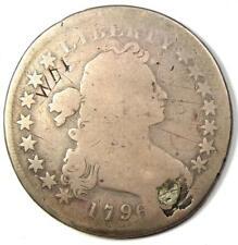 1796 Draped Bust Silver Dollar $1 - Fair Details (Plugged) - Rare Date Coin!