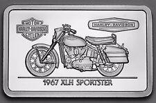 1.4 oz .999 silver bar 1967 XLH SPORTSTER Harley Davidson COA, GREAT GIFT