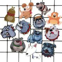 Dogs Brooches Funny Angry Bulldog Pug Animal Acrylic Brooch Badges Icon Pins