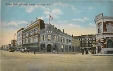Wisconsin, WI, Oshkosh, Corner Main & High Streets 1910's Postcard