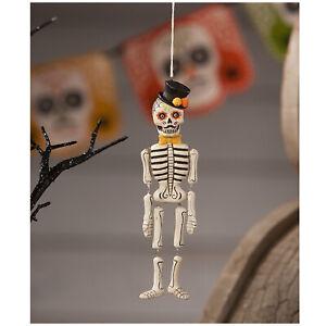 Bethany Lowe Day Dead Sugar Skull Muertos Skeleton Halloween Decor Ornament