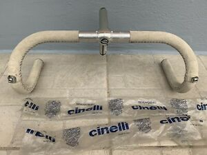 Cinelli VIP Set (NOS) : Handlebar + Stem + Suede Leather