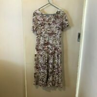 Orientique Multicoloured Floral Dress Size L Womens