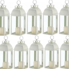 Lot 10 Ivory Lantern Distressed Candleholder Wedding Centerpieces