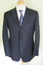 "40"" REG W34 L31 GIEVES & HAWKES PERSONALLY TAILORED NAVY PIN SUIT SAVILE ROW"