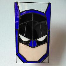 Batman Stained Glass Panel, wall art, window art. DC, justice League, comic.