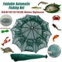 Magic Fishing Trap 20Holes Full Automatic Folding Shrimp Cast Cage Crab Fish Net