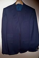 $2,475 NWT GUCCI TOM FORD 40 eu50 R navy HERRINGBONE men's 2 button wool suit