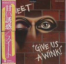 Sweet - Give Us A Wink JAPAN LP with OBI and INSERTS Original Die Cutting Cover