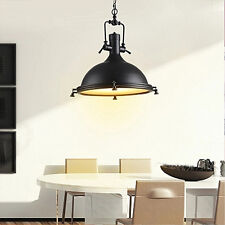 Large Chandelier Warehouse Black Ceiling Lights Kitchen Bar LED Pendant Lighting