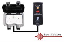Heavy Duty 13A RCD IP66 Weatherproof Outdoor Extension Lead 2 Way Socket 3183Y