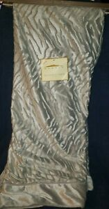 """DOMAIN Faux Fur Gray Tiger Striped Embossed Silky Soft Throw Blanket 50"""" x 70"""""""